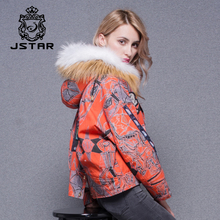 2017 Women customize red jacket fashion flower embroidered fur jacket