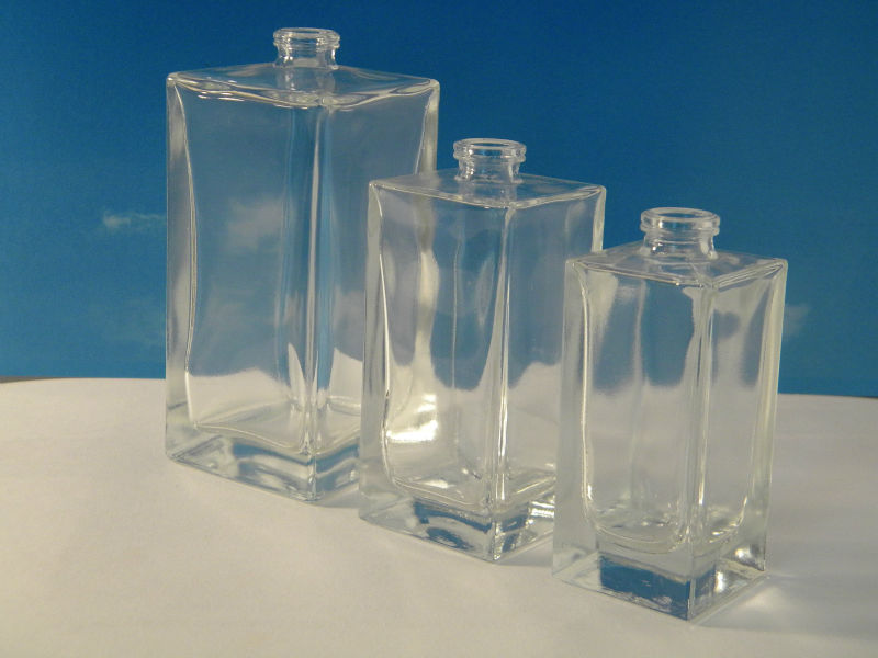 Cosmetic Square Glass Bottle