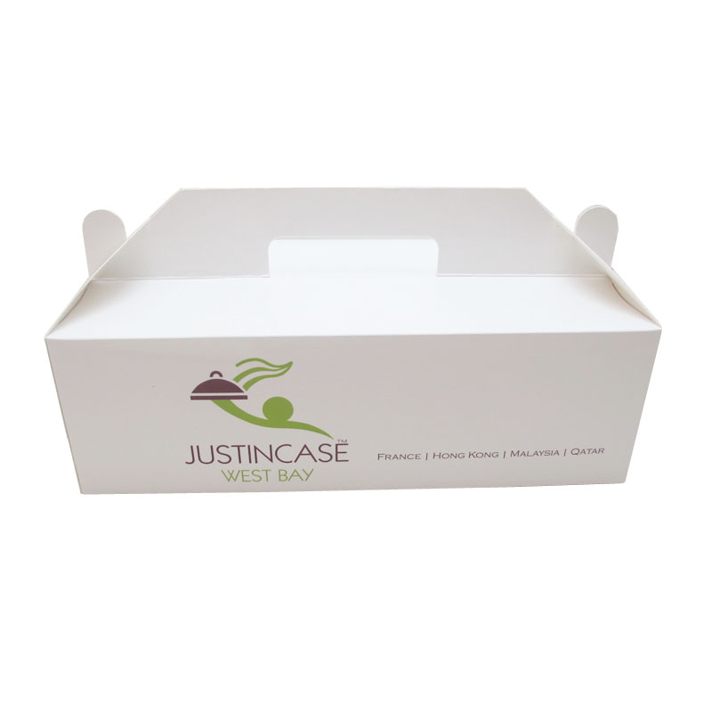 2017 food grade corrugate paper cake box with window (FDA cake box)