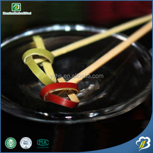 Bamboo fruit knot skewers offered by China supplier