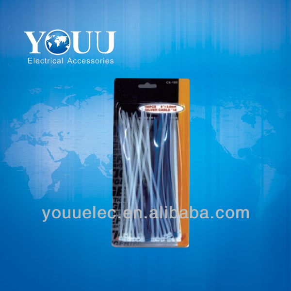 PA66 UL self-locking plastic tie strap