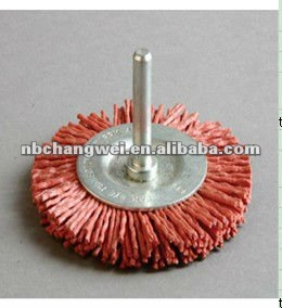 shaft mounted wheel brush,double-deck Abrasive wire brush
