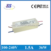 36W 24V 1500ma ac dc constant current led driver power supply