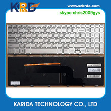 Hot selling laptop keyboard for DELL Inspiron 15 7000 Series 7537 P36F notebook RU layout