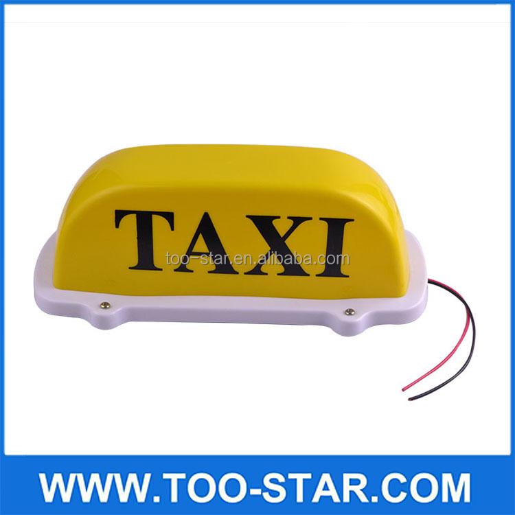 Taxi Waterproof Top Sign Light Hackney Cab Magnetic Base Lamp Yellow