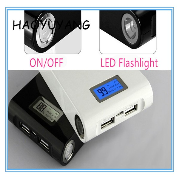 HYY-111 Capacity LCD 12000 mAh Factory Price Power Bank LED Torch Light Portable LCD Charger
