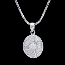 YULAILI 925 sterling silver bend moon pendant necklace jewelry wholesale price