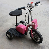 New design three wheeler standing up 3 wheel adult kick scooter with big front tire