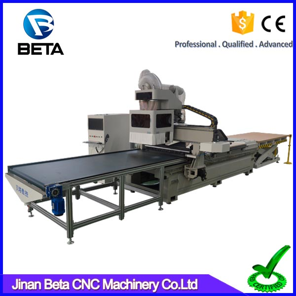 New design auto loading 3d cnc wood cutting router machine price for panel furniture kitchen cabinet