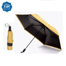 Safety manual open fabric paint outdoor umbrella