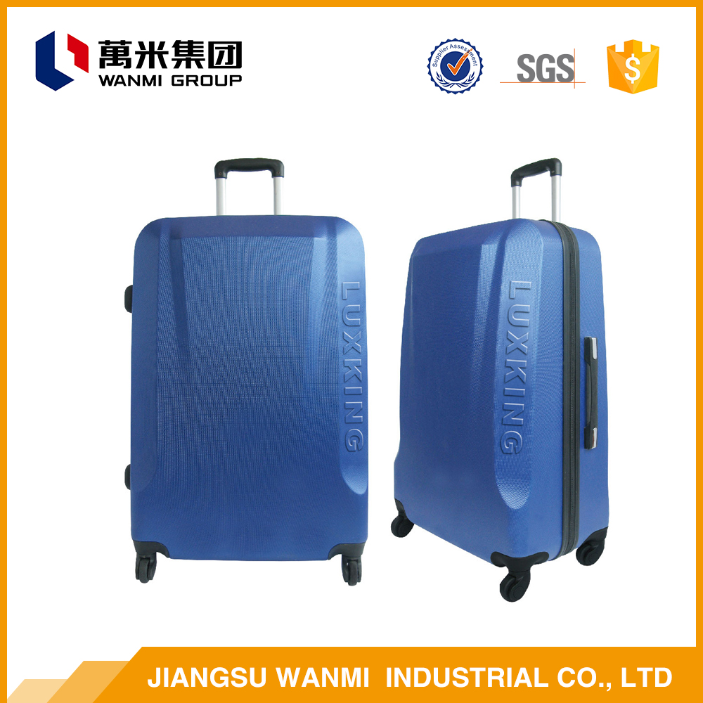Machine-made good elegant abs travel plastic cover luggage bag sets