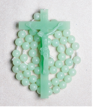 Big Cross Glow in the Dark Luminous Plastic Wall Rosary