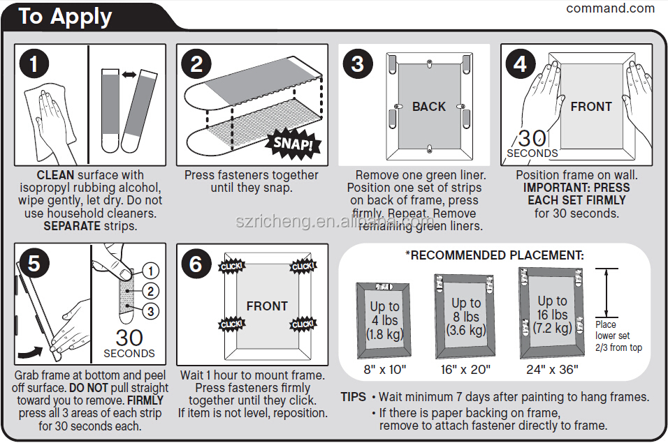 3m Command Picture Frame Hanger,Small,Medium,Large Size - Buy ...