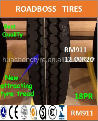 Popular truck tires 12.00R20 RM911 ROADBOSS Long lifetimes,Best resist damage with Global Supplier of High Quality Tires