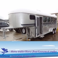 4 horse gooseneck trailer with living quarters from china