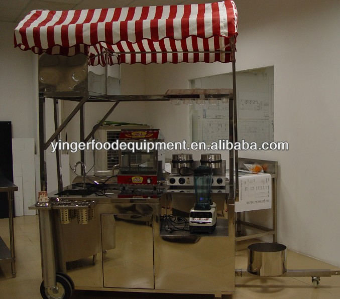 Mobile Food Trailer/Electric Tricycle Mobile Hot Dog Cart For Sale