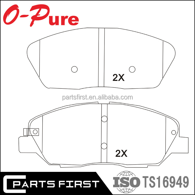 FMSI D1202 Best Price No noise High Friction Fabric Shim Industrial Brake Pads GDB3418 Korean Car for Hyundai Santa Fe 2007-2009