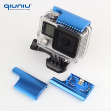 QIUNIU Colorful CNC Aluminum Lock Buckle Top Latch for GoPro Hero 3+ Hero4 Protective Waterproof Skeleton Housing Case