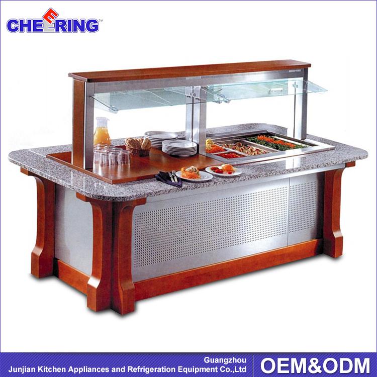 Commercial Salad Bar Restaurant Buffet Equipment Guangzhou