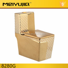 middle east style one piece super flush luxury gold toilet color for shower room