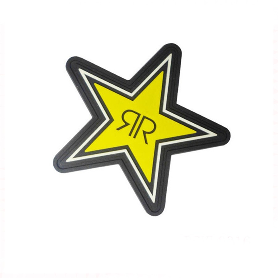 Rubber PVC Sticker Patches For Clothes Backpacks