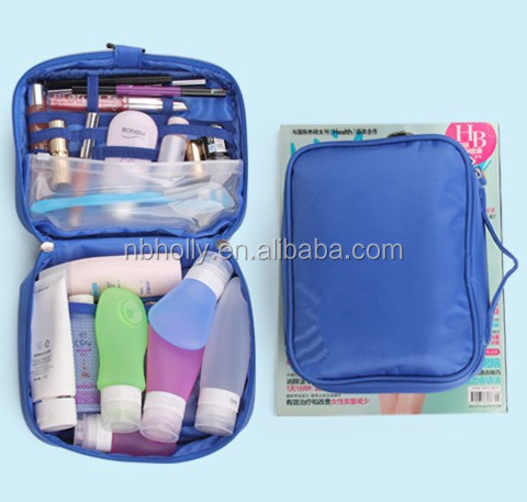 Travel toiletry portable unisex polyester wash gargle bag