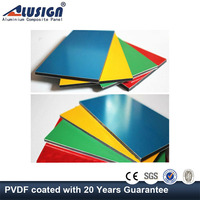 Alusign high glossy aluminum composite interior wall panel with different coatings
