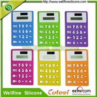 Collapsible unbreakable promotional silicon calculator