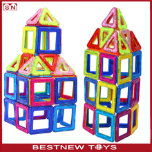 Hot selling magnet plastic connecting magnetic building blocks toy for kids