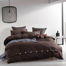 Pure color Cotton/polyester bedding set/bedding linen bed sets duvet cover bedsheets