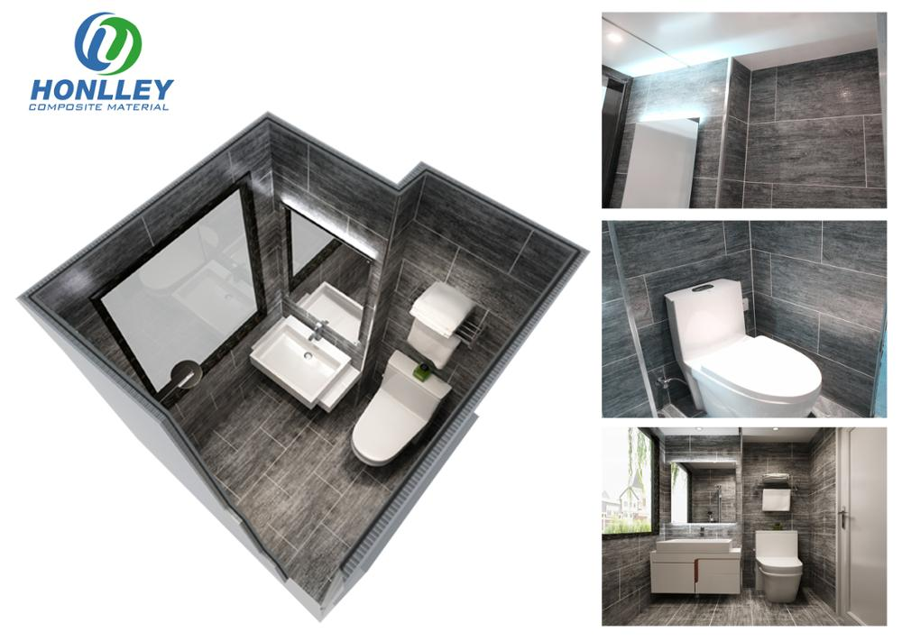 Made in China prefabricated bathroom with toilet, portable bathroom pod, modular bathroom units pod
