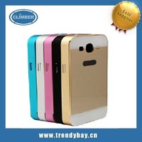 Aluminum Metal bumper with PC back cover push-pull functionFor samsung galaxy win i8552 aluminum case