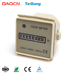 DAQCN HM-1 China Supplier 0-99999H Range 8 Digit Digital Counter Hour Meter