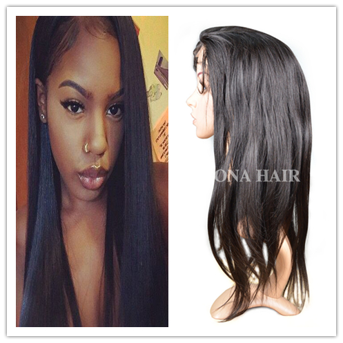 Hot sale unique virgin human hair lace front wig