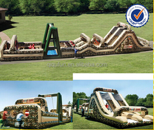 Massive Adult/Kids MIlitary Inflatable Obstacle Challenge - Boot Camp Inflatable Obstacle Course O487