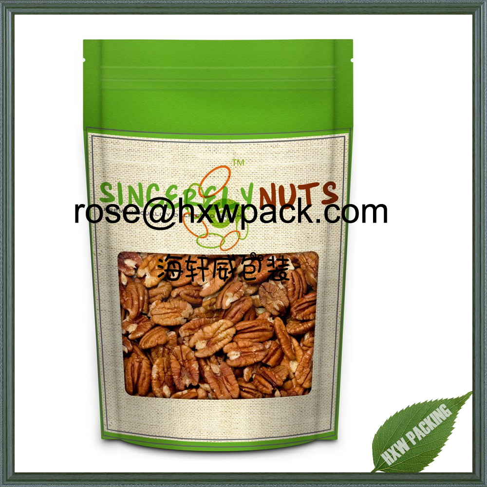 Wholesale Dried nuts Almond,Cashew ,bean food packaging bag with ziplock