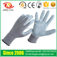 13 guage grey nitrile coated work safety gloves