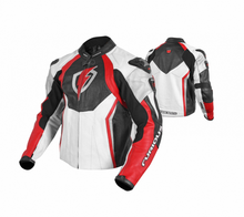 Red/Black/white Motorcycle racing leather jacket