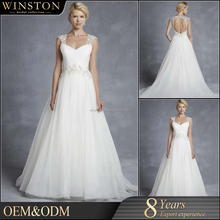 Top Quality Guangzhou Factory Real Sample Latest Alibaba front slit wedding dress