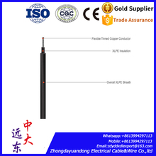 UV product waterproof 4mm solar pv cable for solar energy system