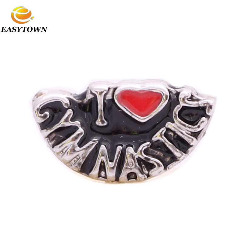 2017 fashion floating charm top quality gymnastic sport locket charms fit floating lockets