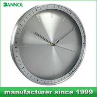 "silver wall clock/ other office & school supplies goods/ 12"" wall clock metal"