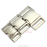 "3/4"" curved metal release buckle for dog collar wholesale"