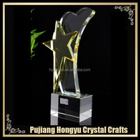 AAA quality creative nice crystal star awards trophy