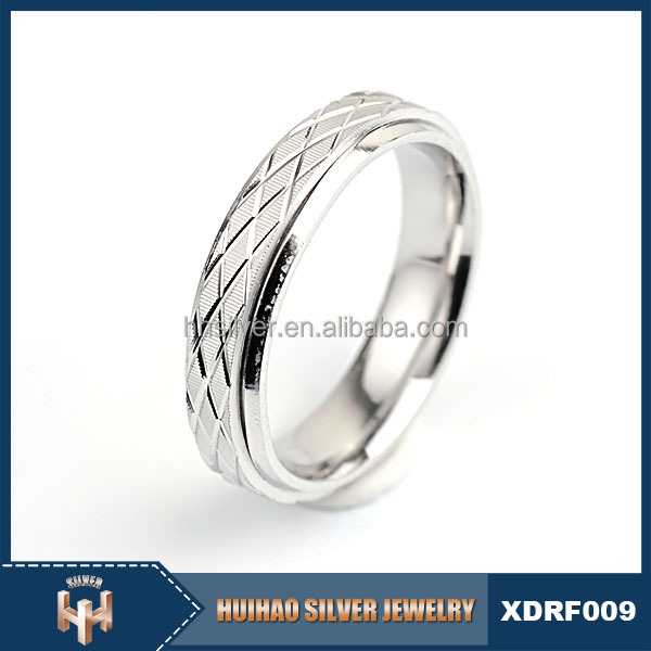 2016 new product fashion jewelry rhodium plated smooth plain ring 925 a silver without stone