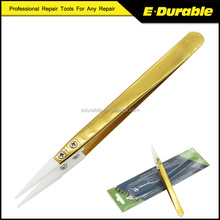 Anti-Static Ceramic Tweezer Changeable Replaceable Straight Tweezer for Electronics Repair