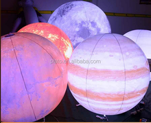 Factory price inflatable planet ball with led light /inflatbale earth /solar system balloon for event/decoration