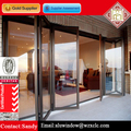 Extruded aluminum door with frosted glass