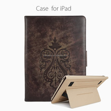 Vintage style tablet/ unique design case for ipad air 2/ high quality flip tablet case / stand function