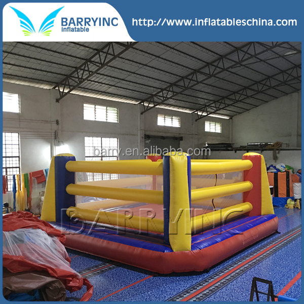 Children play game inflatable boxing ring for kids